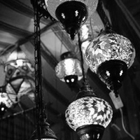 Nice lamps in Cocentaina old market